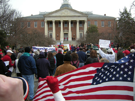Rally in front of Maryland State House