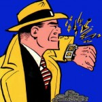 Dick Tracy with his wrist radio